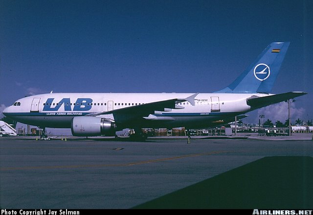 One of LAB's Airbus 310's.