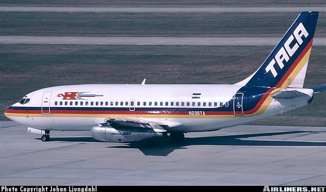 From the 1980's untill the turn of the century, the 737-200 played a big part of TACA's fleet.